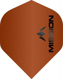 Mission Logo 100 Std. Matt Orange Dartflight | Darts Warehouse