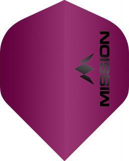 Mission Logo 100 Std. Matt Pink Dartflight | Darts Warehouse