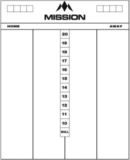 Mission Marker Board Darts scoreborden   Darts Warehouse