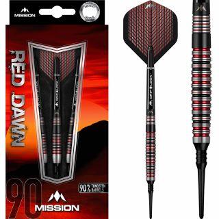 Mission Red Dawn 90% M3 Softtip Darts | Darts Warehouse