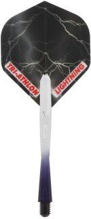 Thunder & Lightning Black Flight Shaft Set   Darts Warehouse