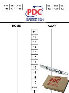 PDC Scoreset 45x30 cm   Darts Warehouse
