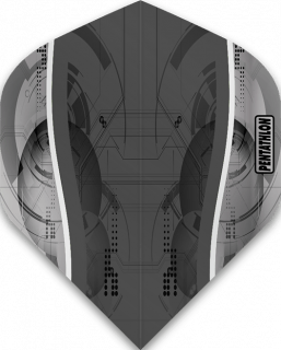 Pentathlon Silver Edge Grey | McKicks Flights | Darts Warehouse