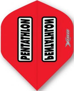 Pentathlon X 180 Red | McKicks Dartflights | Darts Warehouse