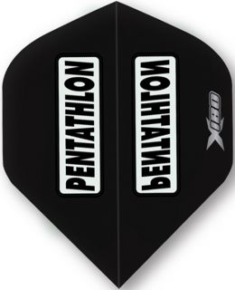Pentathlon X180 Black | McKicks Dartflights | Darts Warehouse