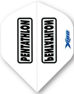 Pentathlon X180 White | McKicks Flights | Darts Warehouse