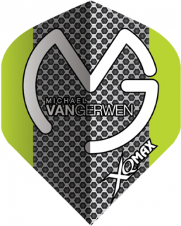 Michael van Gerwen Dartflights   Grey Black Dots   Darts Warehouse