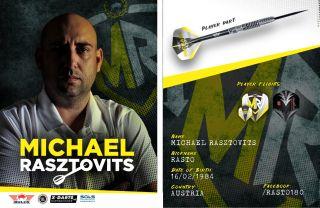 Michael Rasztovits Rasto Signcard   Darts Warehouse