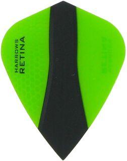 Harrows Retina X Kite Green Flights   Darts Warehouse