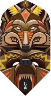 Shot Branded Slim Flight Totem Animals | Darts Warehouse