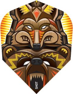 Shot Branded Std.6 Flight Totem Animals | Darts Warehouse