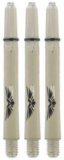 Shot! Eagle Claw Clear Black Medium Shaft | Darts Warehouse