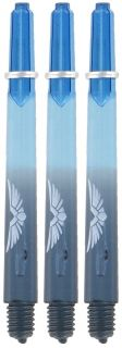 Shot! Eagle Claw Blue Black Medium Shaft | Darts Warehouse