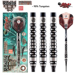 Shot Ronin Makoto 1 FW 90% Softtip Darts | Darts Warehouse