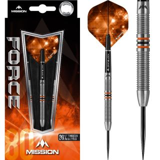 Force 80% M25 Mission Steeltip Darts | Darts Warehouse