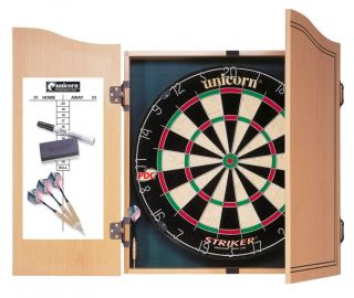 Striker Cabinet Home Darts Centre Dartboard Set