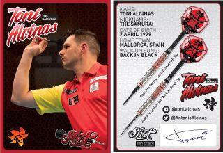 Toni Alcinas The Samurai Signcard   Darts Warehouse