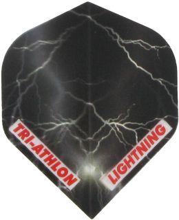 Triathlon Lightning Std. Clear Black   Darts Warehouse