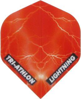 Triathlon Lightning Std. Clear Red   Darts Warehouse