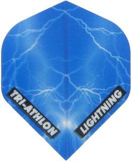 Triathlon Lightning Std. Clear Blue   Darts Warehouse
