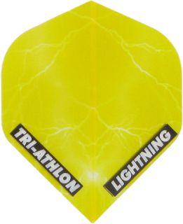 Triathlon Lightning Std. Clear Yellow   Darts Warehouse