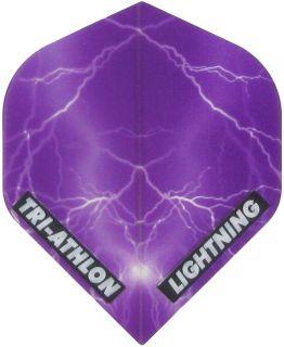 Triathlon Lightning Std. Clear Purple   Darts Warehouse