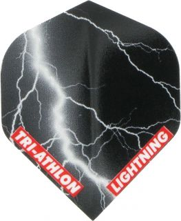 Triathlon Lightning Std. Black   McKicks Flights   Darts Warehouse