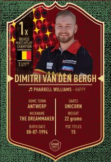 Ultimate Card Dimitri Van den Bergh 37x25 cm   Darts Warehouse