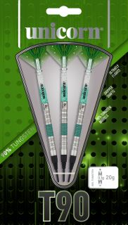 Unicorn Softtip Core XL T90 Green 2 95% | Darts Warehouse